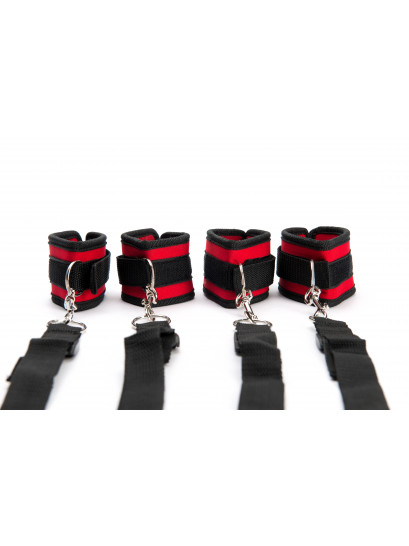 ARGUS FETISH RED BLACK BAD RESTRAINT SET