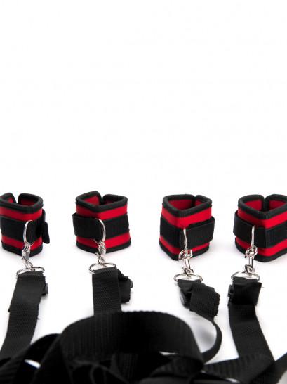 ARGUS FETISH RED BLACK BAD RESTRAINT SET (Default)