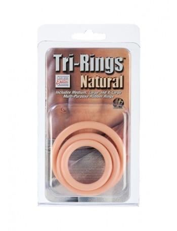 CALIFORNIA EXOTIC TRI-RINGS TRES ANILLOS PVC NATURALES
