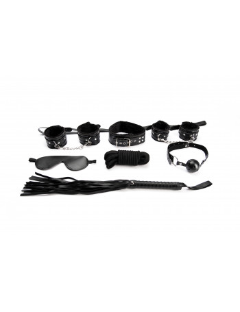 ARGUS FETISH BLACK BONDAGE SET