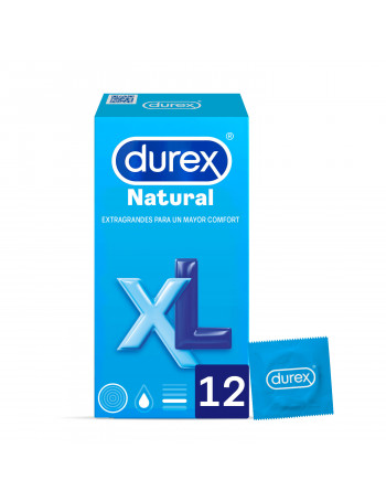 DUREX NATURAL XL 12 UNIDS