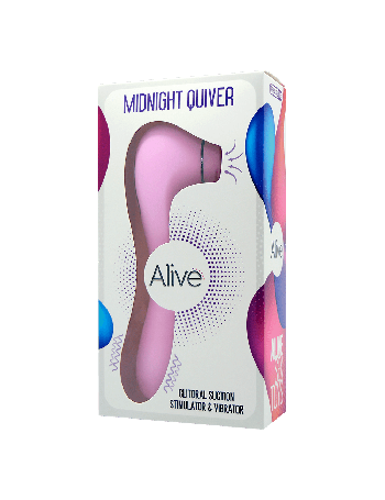 ALIVE MIDNIGHT QUIVER CLITORAL SUCTION & VIBRATION PINK