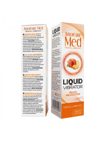 AMORÉANE MED LIQUID VIBRATOR PEACH 30 ML