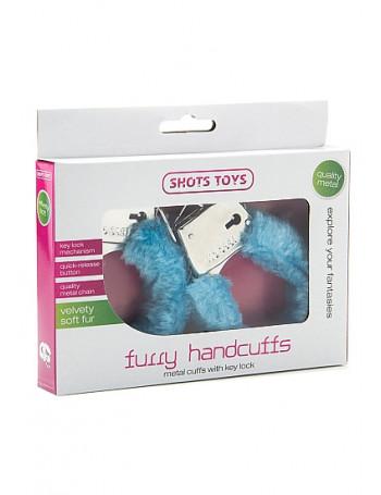 FURRY HANDCUFFS - BLUE