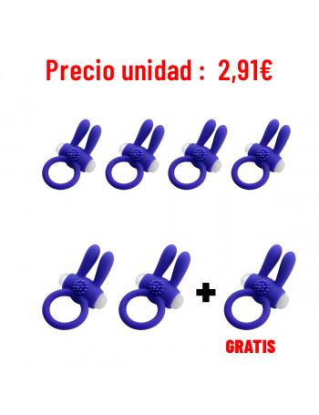 LIBID TOYS SIVARY ANILLO MORADO (PACK 6 + 1)