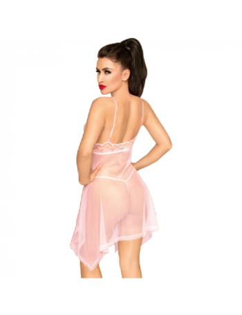 PENTHOUSE NAUGHTY DOLL BABYDOLL PINK M/L
