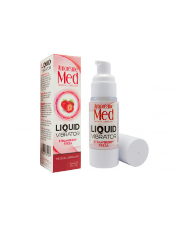 AMORÉANE MED LIQUID VIBRATOR STRAWBERRY 30 ML
